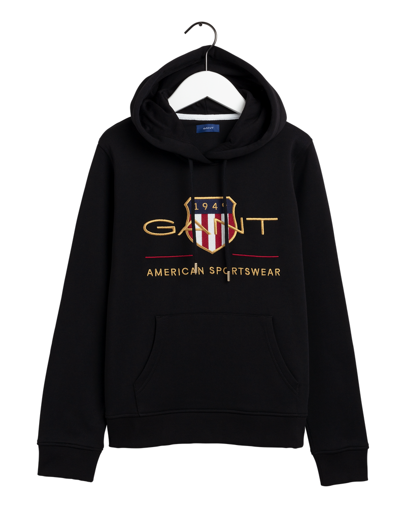D1. ARCHIVE SHIELD SWEAT HOODIE (5 BLACK)