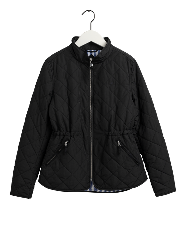 D1. QUILTED FITTED JACKET (5 BLACK)