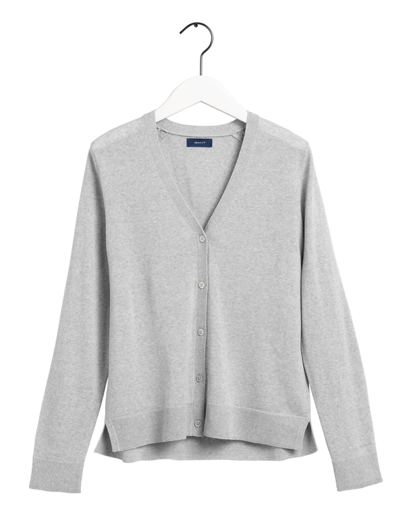 WASHABLE MERINO CARDIGAN (94 LIGHT GREY MELANGE)