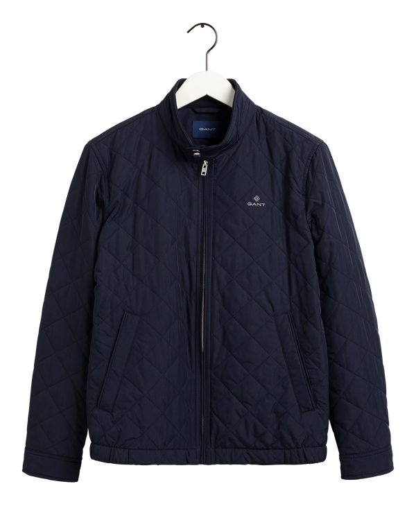 QUILTED WINDCHEATER (433 EVENING BLUE) - D.O Design Only