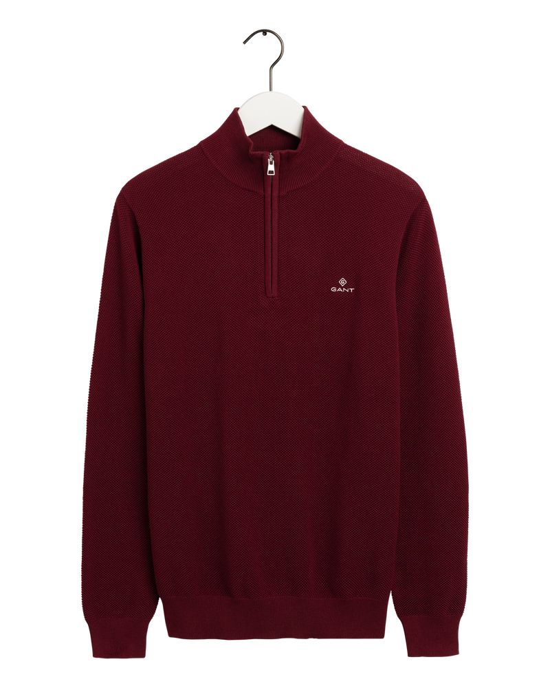 COTTON PIQUE HALF ZIP (605 PORT RED) - D.O Design Only