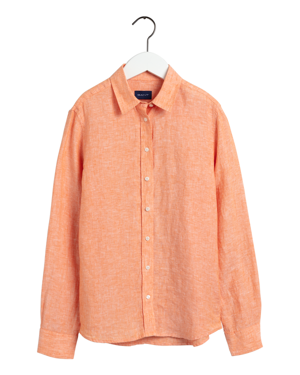 THE LINEN CHAMBRAY SHIRT (806 RUSSET ORANGE)