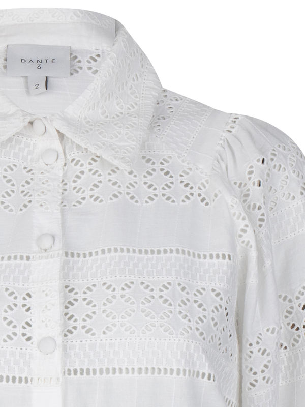 Laureene embroidered blouse (156 Milk White) - D.O Design Only