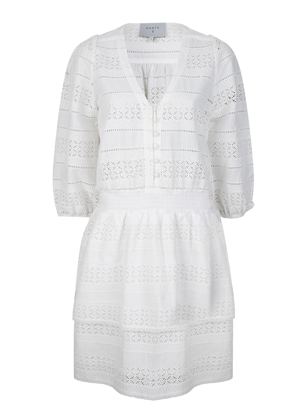 Paltrow embroidered dress (156 Milk White) - D.O Design Only
