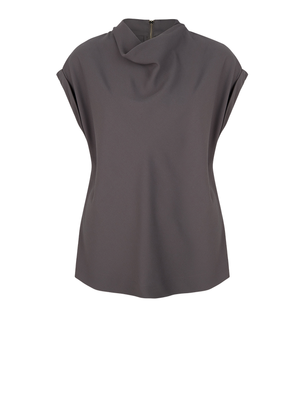 Mason satin detail top (935 Deep Grey) - D.O Design Only