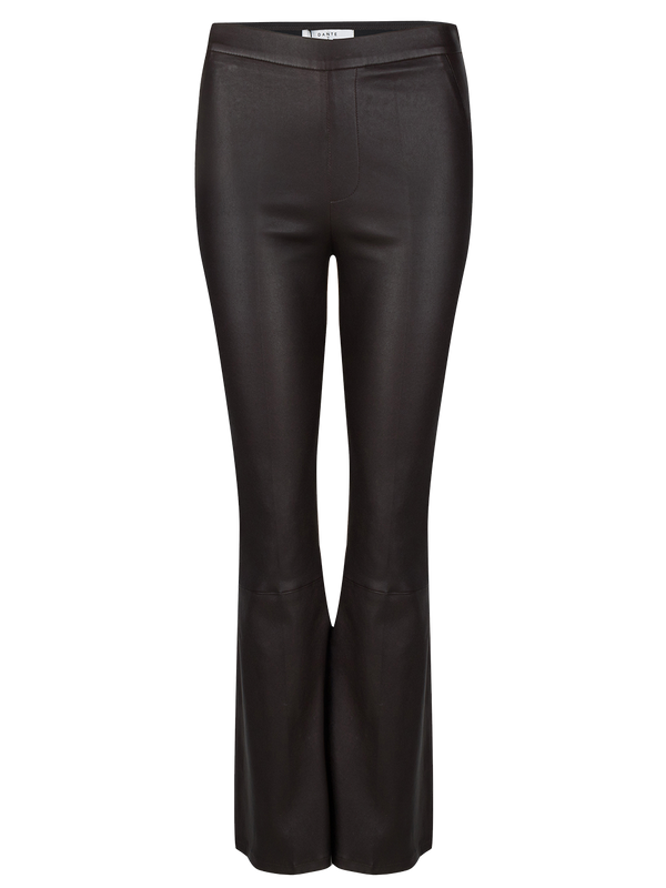Tyson crop flare st leath pant (750 Café Noir) - D.O Design Only