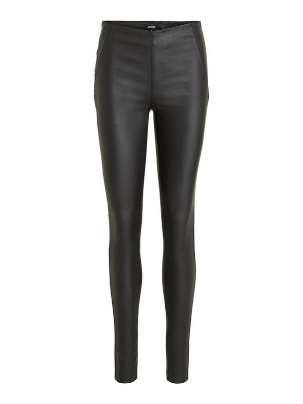 OBJBELLE MW COATED LEGGINGS NOOS (BLACK) - D.O. Design Only