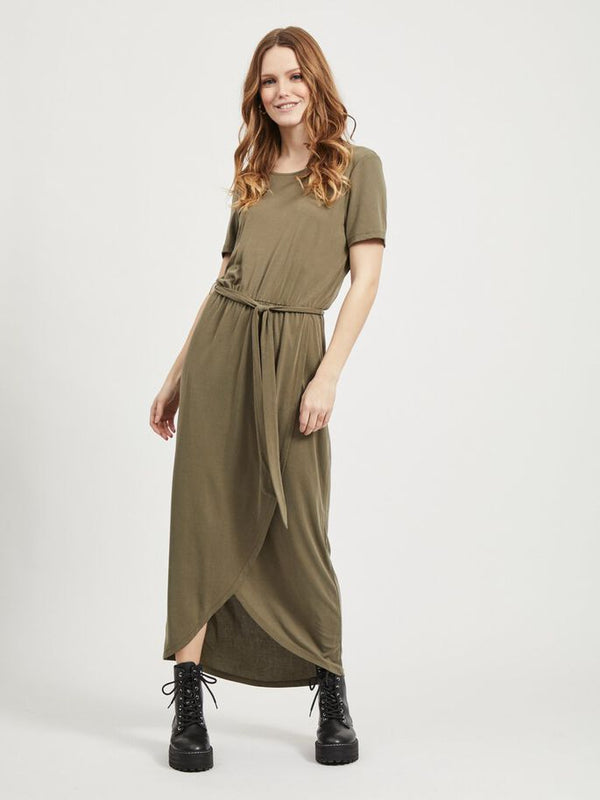 OBJANNIE NADIA S/S DRESS NOOS (BURNT OLIVE) - D.O. Design Only