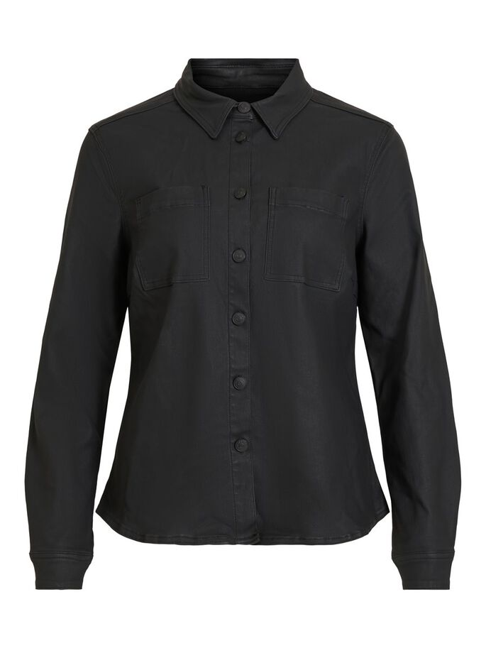 OBJBELLE SUPERCOATED SHIRT PB8 (BLACK) - D.O Design Only