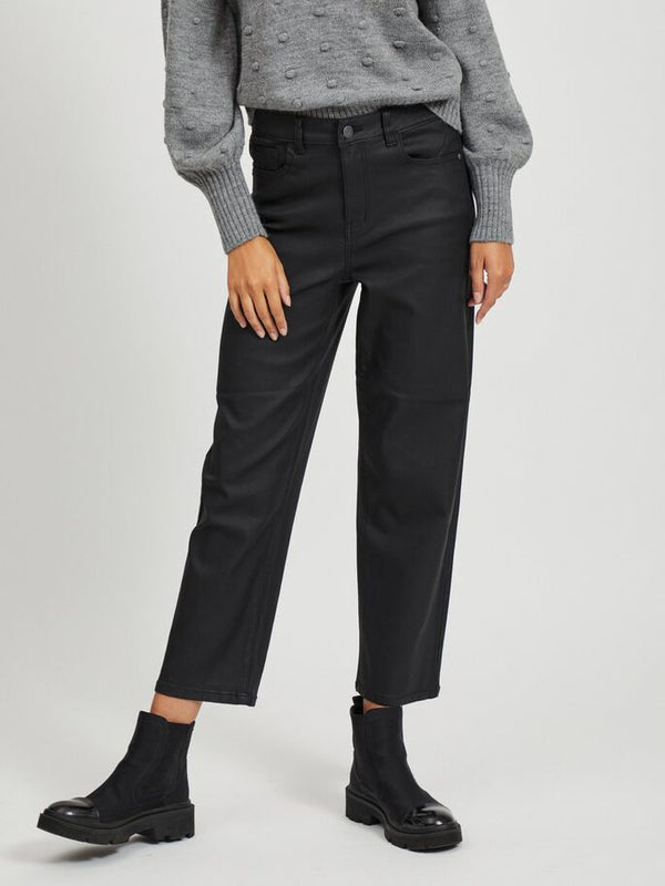 OBJMOJI BELLE COATED JEANS 111 (BLACK)