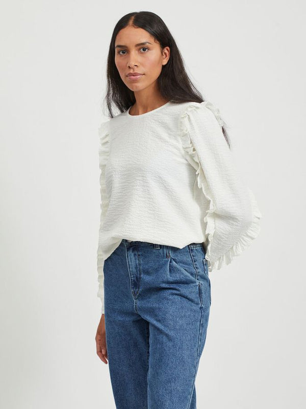 OBJEVITA L/S TOP 111 (Cloud Dancer)
