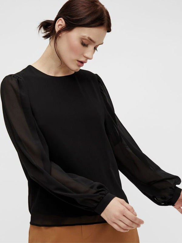 OBJMILA L/S TOP NOOS (BLACK)
