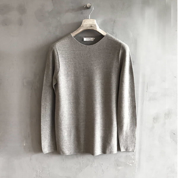 Seamless Crewneck (Frost Grey)