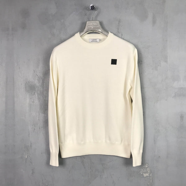 Plated Crewneck Sweater (OFFWHITE)