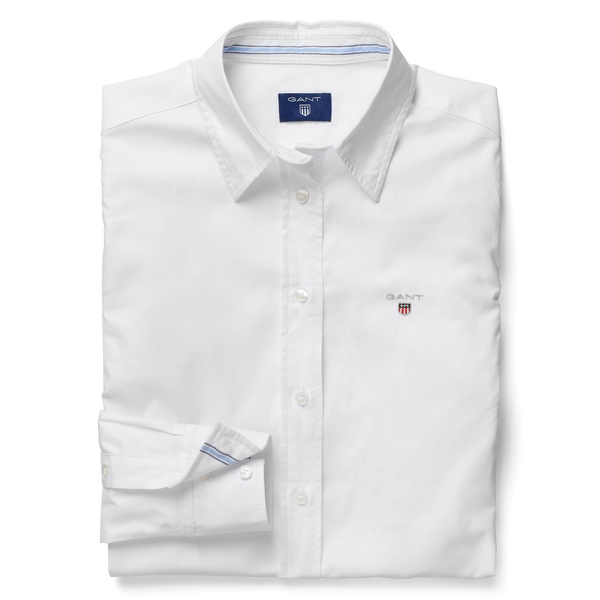 STRETCH OXFORD SOLID SHIRT (110 White) - D.O Design Only