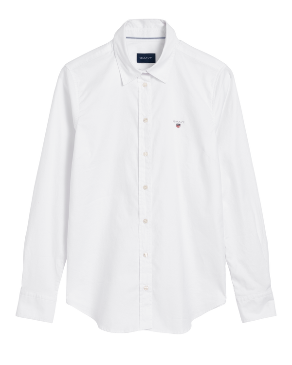 STRETCH OXFORD SOLID SHIRT (110 White) - D.O. Design Only