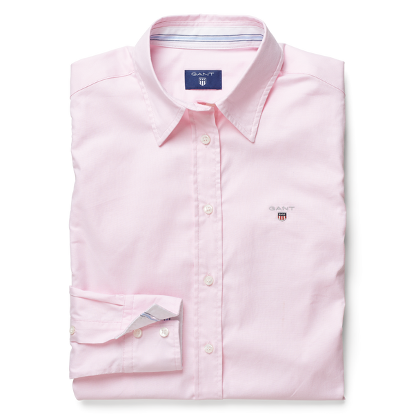 STRETCH OXFORD SOLID SHIRT (662 LIGHT PINK) - D.O Design Only