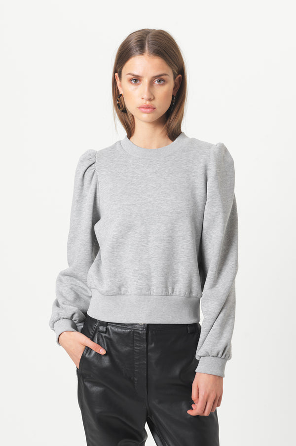 Carmella Sweat (7001 Light grey melange) - D.O Design Only