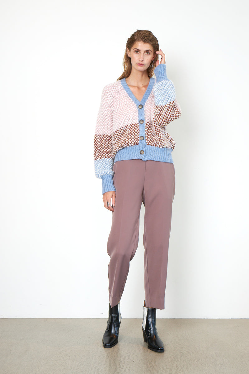 Berthe Knit Cardigan (3076 Light Mahagony)