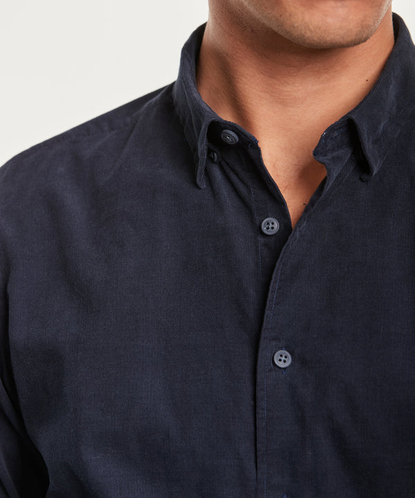 Cedrik Button Under Shirt (64 Blue)