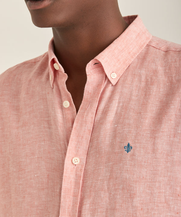 Douglas Linen Shirt LS (40 RED)