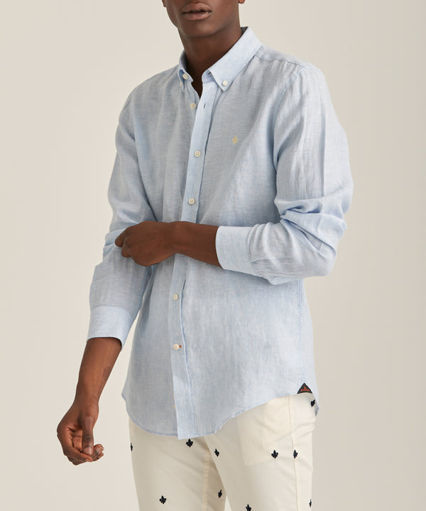 Douglas Linen Shirt LS (54 Light Blue)
