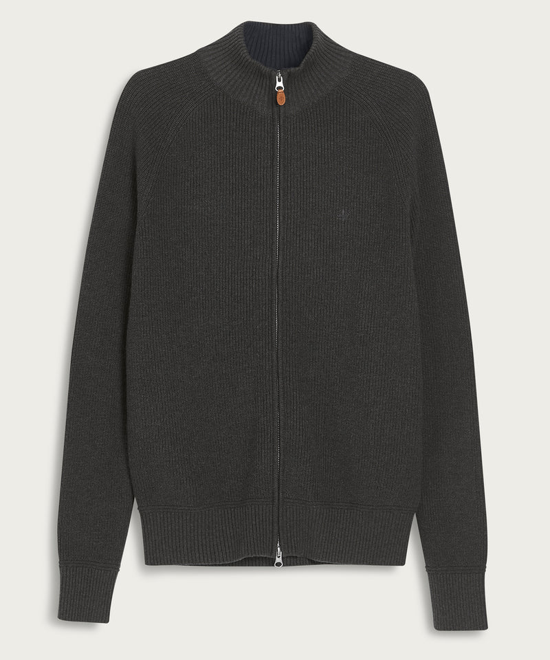 Watts Zip Cardigan (95 Grey)