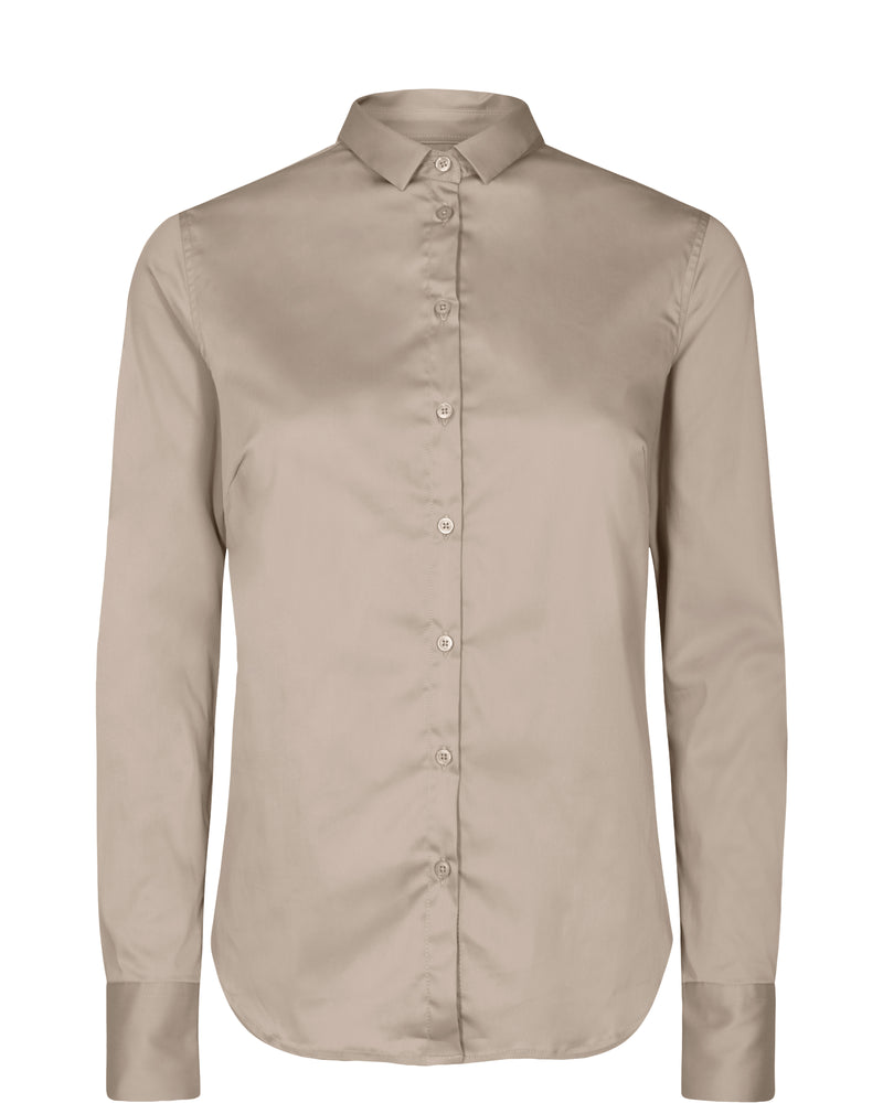 Tilda Sustainable Shirt (661 Light Taupe) - D.O Design Only
