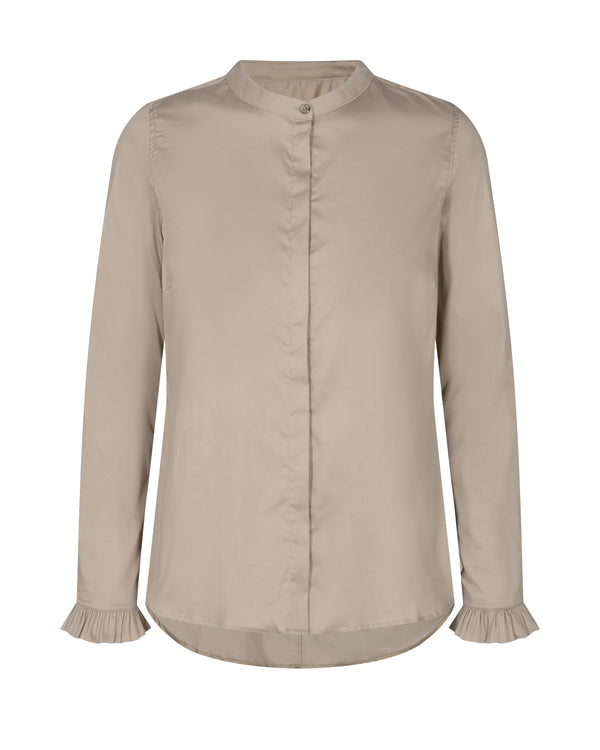 Mattie Sustainable Shirt (661 Light Taupe) - D.O Design Only
