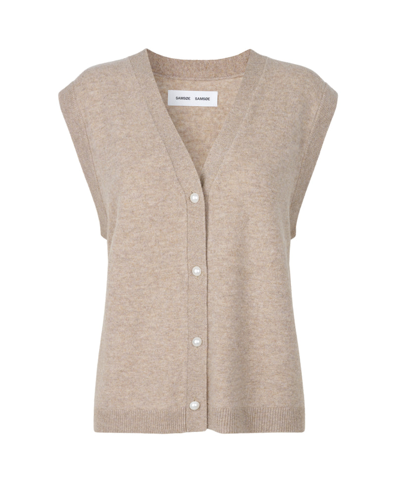 Amaris cardigan vest 12758 (00052 WARM GREY MEL.)