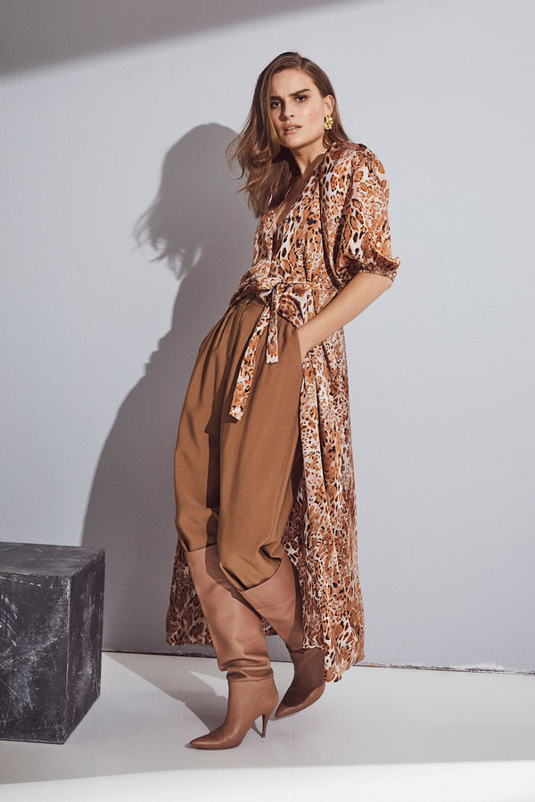 Daria Wrap Dress (154 Walnut) - D.O Design Only