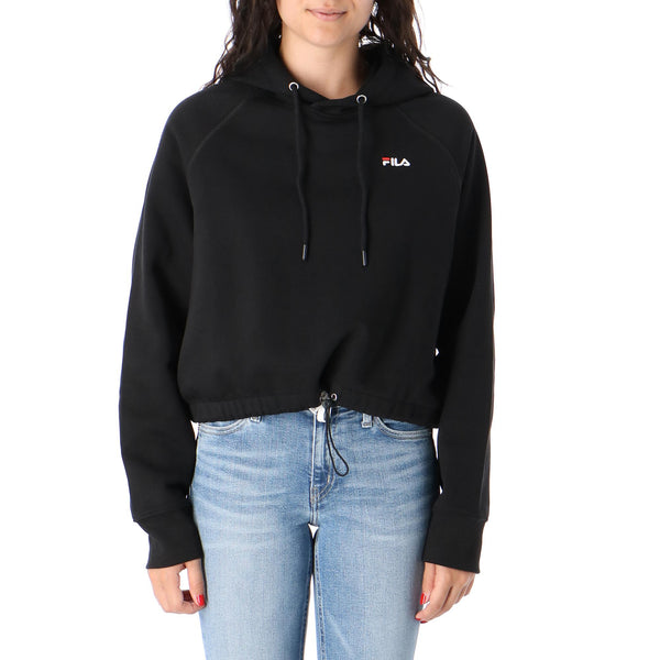 WOMEN ELAXI cropped hoody (002 Black)