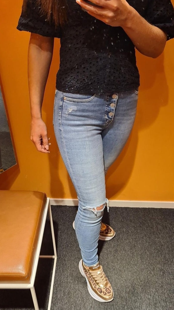 HIGH RISE SUPER SKIN, (1A4 Denim Medium)
