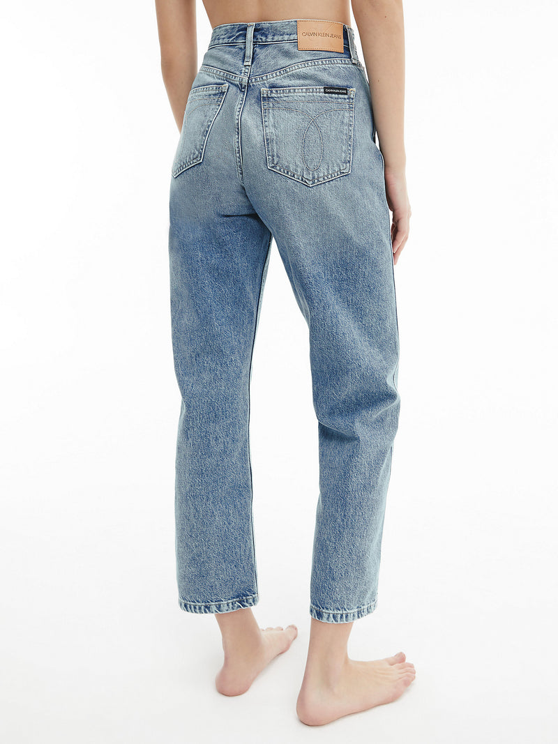 HIGH RISE STRAIGHT A, (1AA Denim Light)