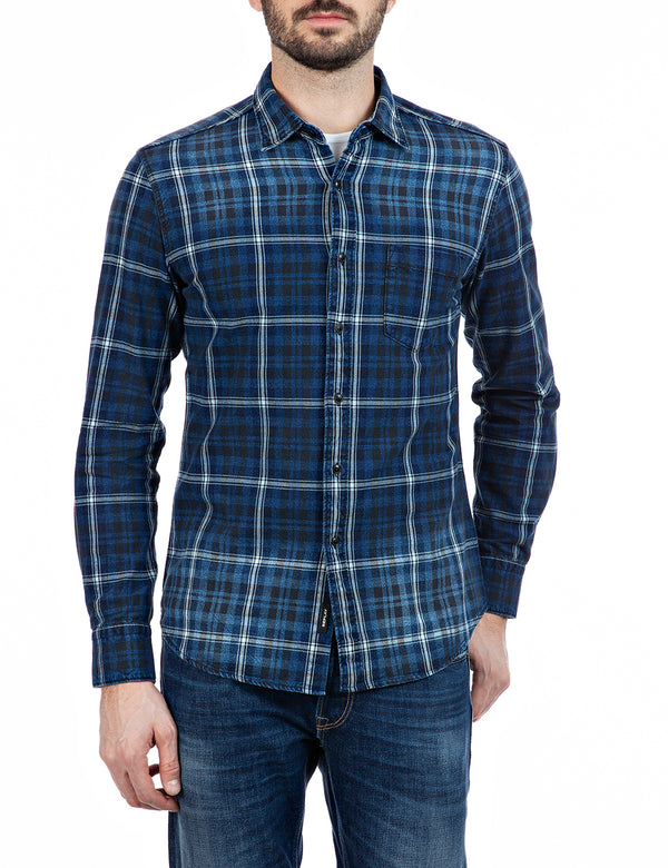 Indigo Check Shirt (010 DARK BLUE/NATURAL WHITE) - D.O Design Only