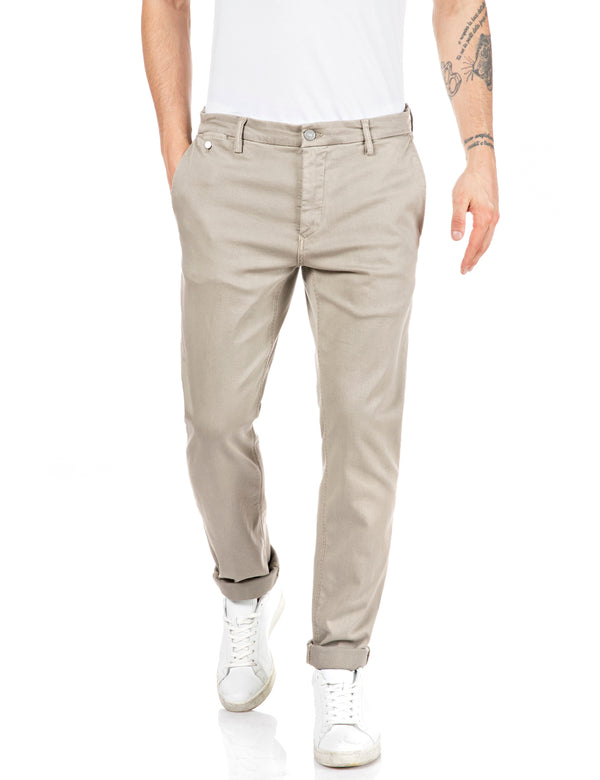 BENNI Hyperchino Color Xlite (326 CLAY GREY garment dyed and stonewashed)