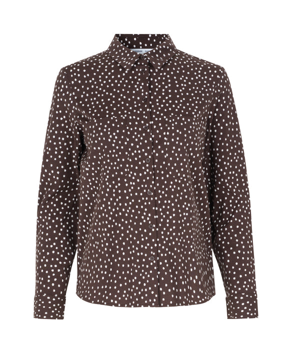 Milly shirt aop 9942 (00178 COFFEE DROPS)