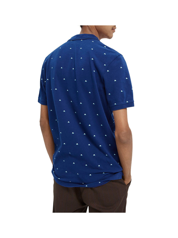Polo with allover print (0220)