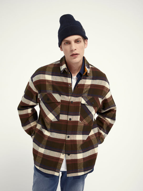 Brushed flannel shirt (0219)