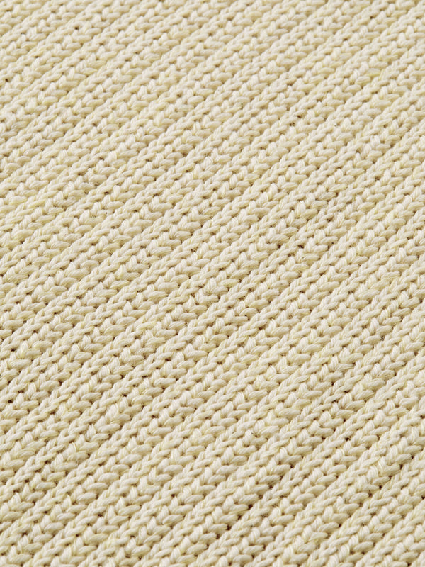 Recycled cotton blend pull in structured knit (4204)