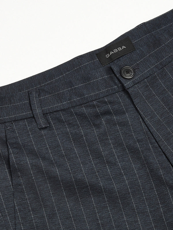 Pisa Chino Pinstripe (Navy Pin) - D.O Design Only