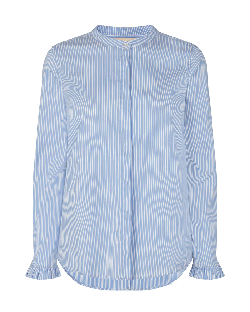 Mattie Two Stripe Shirt (477 Bel Air Blue)