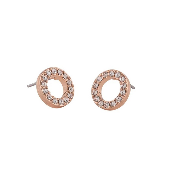 Pi coin ring ear (255 rosé/clear) - D.O Design Only