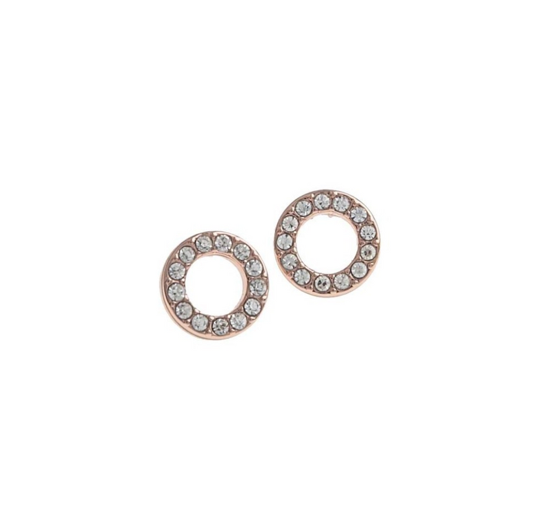 Spark small coin ring ear (255 rosé/clear) - D.O Design Only