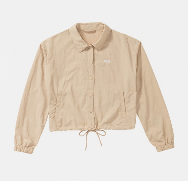 WOMEN MALINA woven coach jacket (A605 oxford tan)
