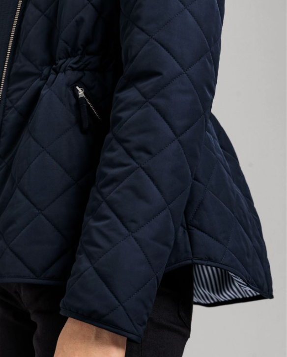 D1. QUILTED FITTED JACKET (433 EVENING BLUE)