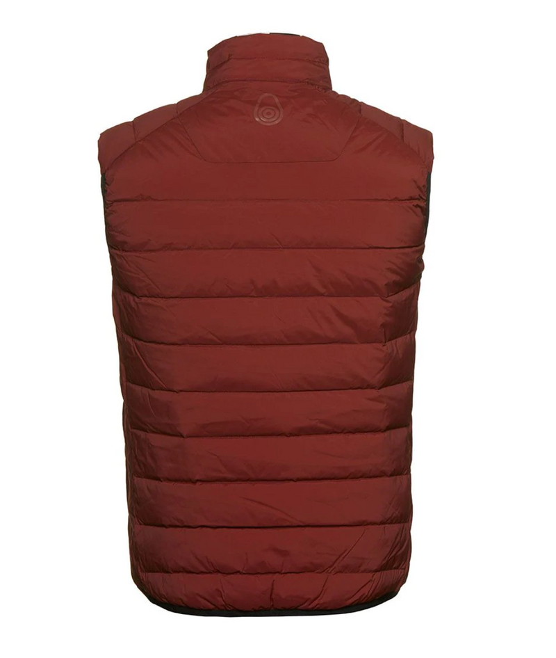 SPRAY DOWN VEST (418 FIRED BRICK)