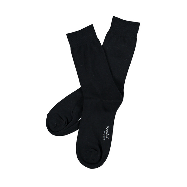 SOCKS 8-P COTTON (115 BLACK)