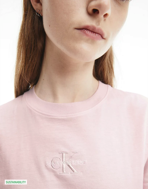 MONOGRAM LOGO TEE, (TN9 Pearly Pink/Quiet Grey)