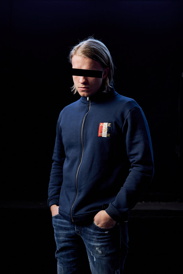 ZIP SWEATSHIRT (NAVY)